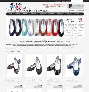 Création boutique Prêt à porter Prestashop Les Parisiennes, création originale templates Prestashop