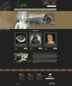Création site prestashop tokogarden, boutique en ligne de meuble déco de jardin, design prestashop thème et template, intégration prestashop
