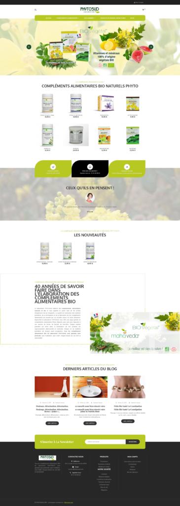 Boutique Prestashop de compléments alimentaires Phytosud
